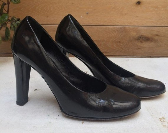 Vintage Patent Leather Pumps Size 39