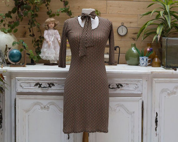Vintage Dress with Bow Size Small