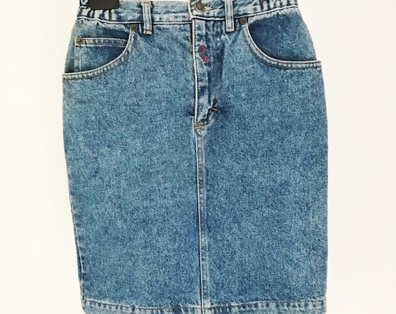 Vintage Denim Mini Skirt Size Small
