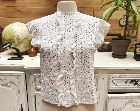 Vintage Handmade Cotton Top Size Small