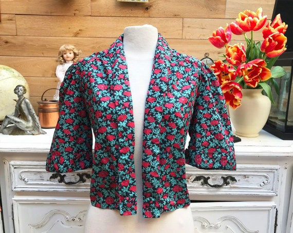 Vintage Flower Bolero Size Medium