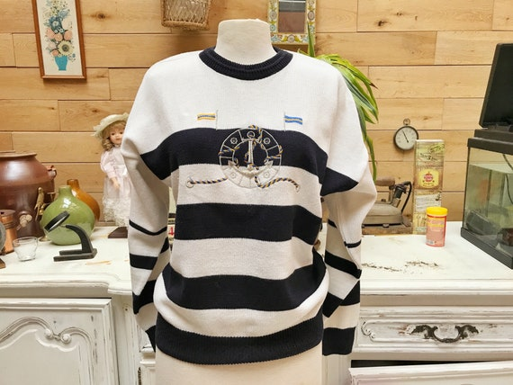 Vintage Sailor Design Sweater