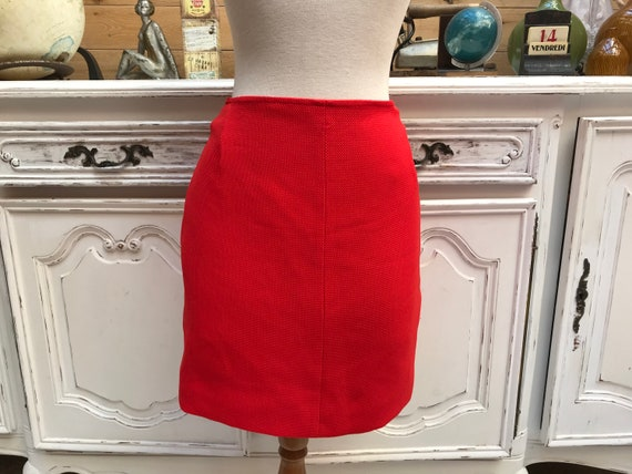 Vintage Red Mini Skirt Size Small