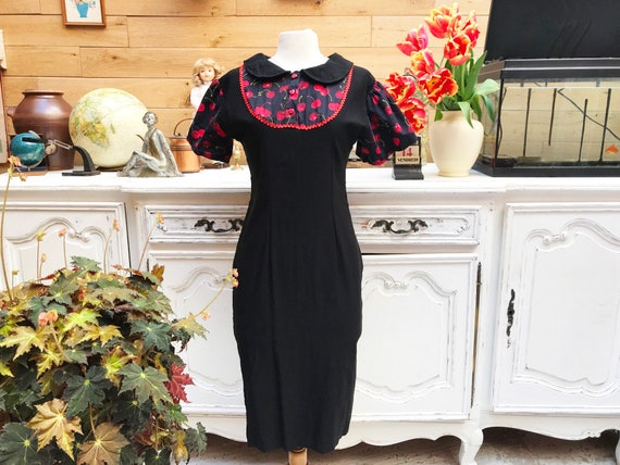 Vintage Sexy Black Dress Size Small
