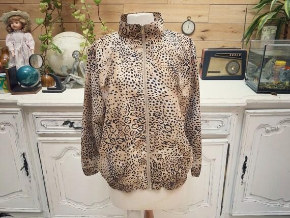 Vintage Leopard Trucksuit Jacket Size Large/X-Large