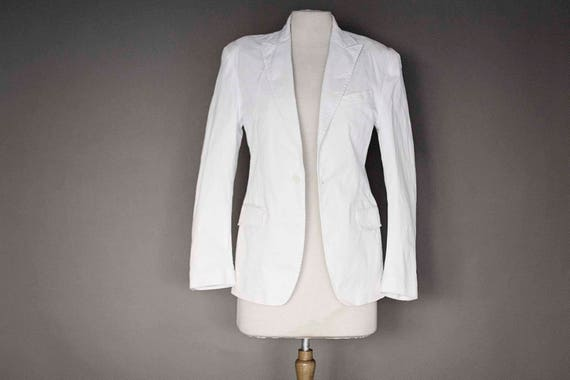 White Sport Cotton Jacket