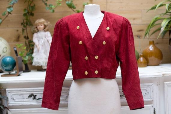 Vintage 1980's Short Suede Jacket