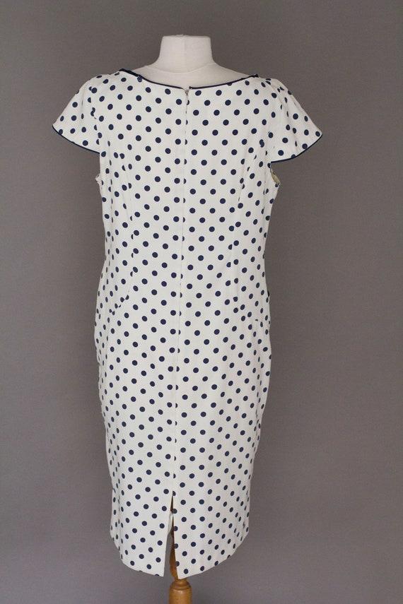 Vintage Polka Dot Classy Dress by Tapioca Size Large