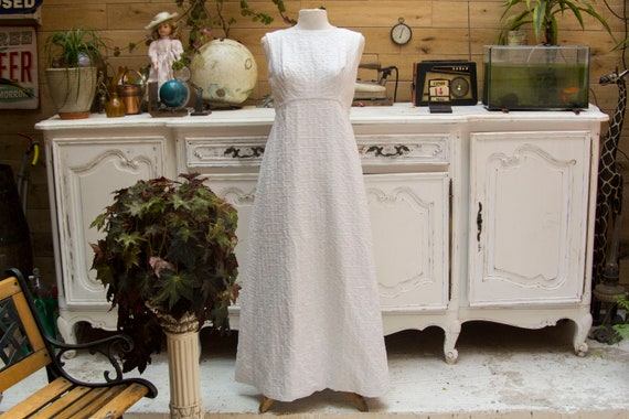 Vintage Handmade White Maxi Dress Size Medium