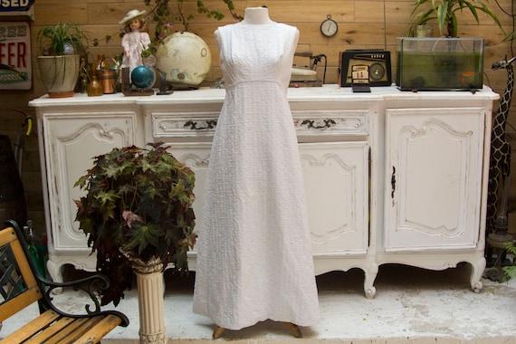 Vintage Handmade White Maxi Dress Size Medium