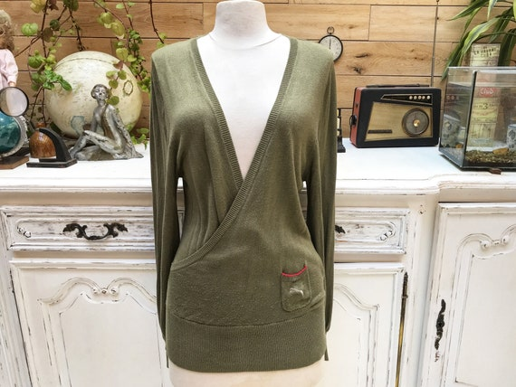 Vintage 1990's Olive Green Puma Tunic Size FR42/Large
