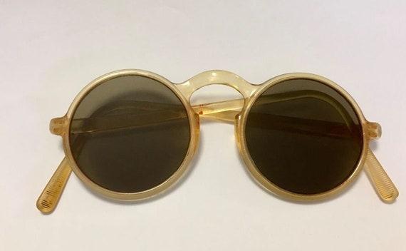 Authentic Vintage Celluloid Round Sunglasses Sunni
