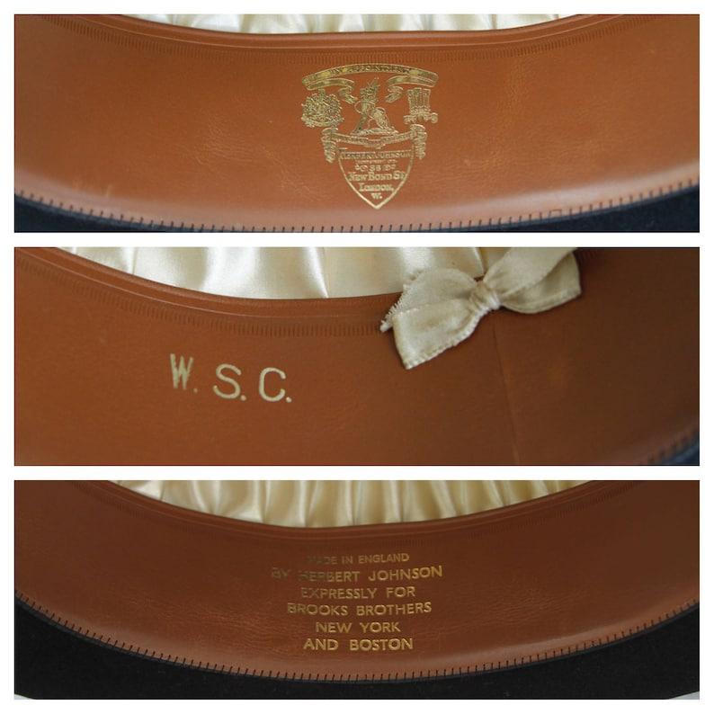 0ba259b4f78 Antique Herbert Johnson Bowler Derby Hat made for Brooks
