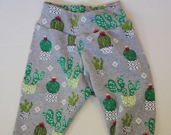 Adorable, Customizable Baby Toddler Cactus Succulent Pants (size 3-6 months)