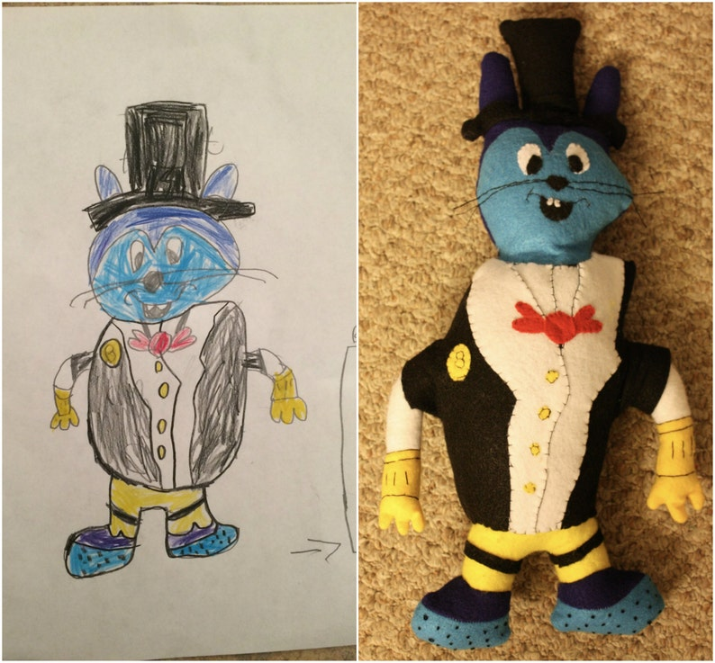 Create a Custom Stuffed Animal from child's artistic image 0