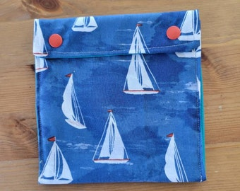 Sailboats!  Reusable, washable snack bags - no waste - kid approved!