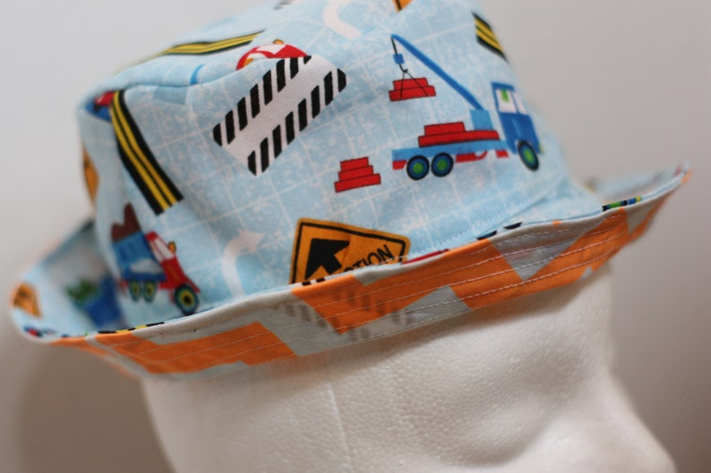 Toddler Bucket Hat  reversible customizable 6-12mo image 0