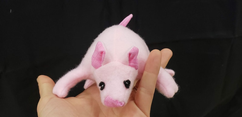 Stuffed Pig  Handmade Adorable Snuggly Mini Pink Stuffed Pig image 0