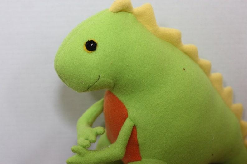Stuffed Dinosaur  Handmade Friendly Adorable Plush stuffed image 0
