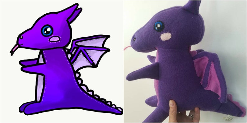 Create a Custom Stuffed Animal from child's artistic image 0