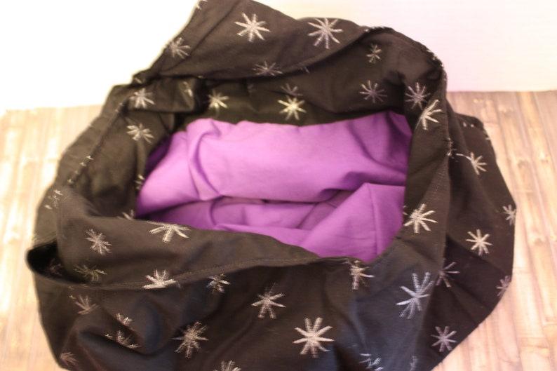 Slouchy Black Stars Hobo Bag image 0