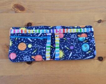 My First Wallet - Toddler Child Boys Girls Space Bifold Wallet