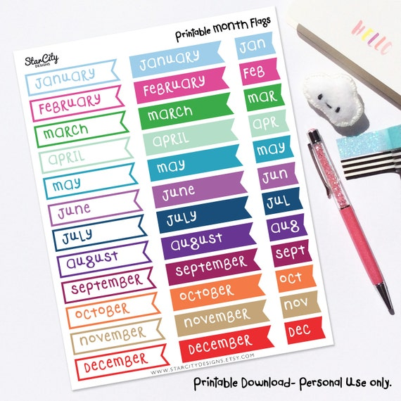 photograph about Bullet Journal Stickers Printable referred to as Printable Thirty day period Stickers, Printable Planner Stickers, Planner Printables, Bullet Magazine Stickers, Printable Stickers, Thirty day period Stickers