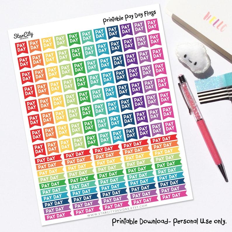 Druckbare Zahltag Sticker Druckbare Planner Aufkleber Planer Printables Bullet Journal Aufkleber Bedruckbare Aufkleber Zahlen Tag Aufkleber