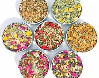 Organic CHAKRA Tea Set- Self Care Mini Tea Gift Set-Organic Loose Leaf Tea Gift Box-Plant Based Vegan Gift-Yoga Gift Set-Tea Gifts-High Vibe