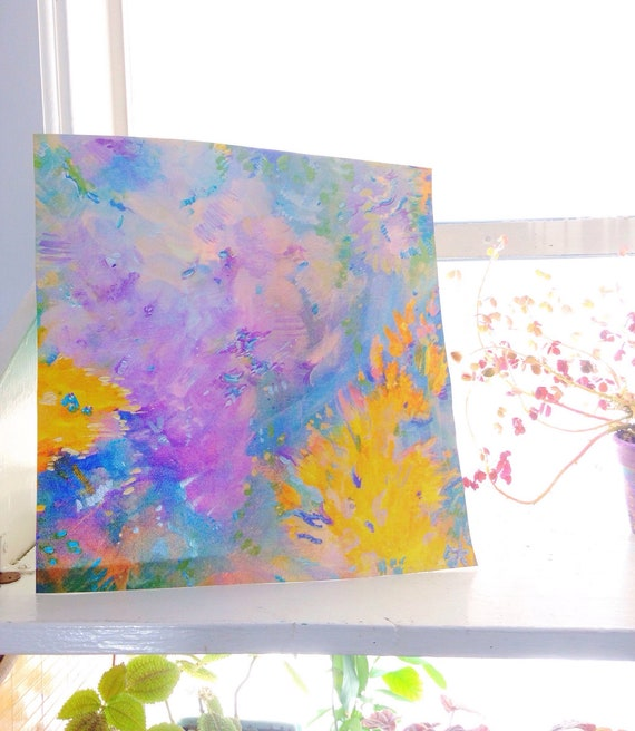 ORIGINAL CANVAS ABSTRACT PICTURE  ART PRINTS CONTEMPORARY MODERN ART SOLSTICE
