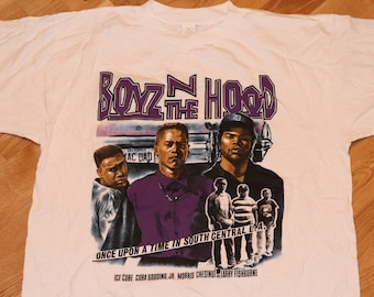aea5b67f2 1990's BOYZ N The HOOD vintage Ice Cube Los Angeles rap hip-hop gang movie tee  t-shirt 1991 NwA (L/XL) MiNT Vtg Boys And Da 80's 90's