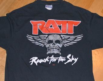 af7e97f15f7c 1989 RATT vintage concert 1980 s Tour Metal Glam Rock Hair Metal band rare  original tee t-shirt (L XL) Large 80 s mens tshirt Gift