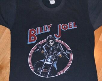 617d564898a 1982 BILLY JOEL vintage rare concert 1980 s Tour original rock band t-shirt  (M L) Medium tee tshirt GiFT 80 s Piano Man