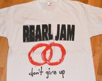 a13c767cb5d 1992 PEARL JAM vintage rare 1990 s Concert Tour original grunge rock  t-shirt (L XL) X-Large Eddie Vedder tee tshirt GiFT Mookie Blaylock