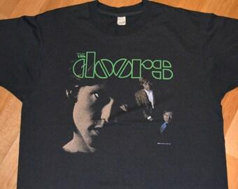 1982 The DOORS / JiM MORRISON original 1980's vintage rock concert tour rare t-shirt 80s (L/XL) X-Large tee tshirt GiFT
