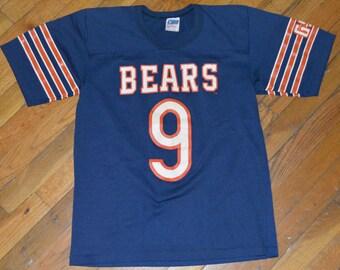 9097256f465 1980's CHICAGO BEARS / Jim McMAHON #9 vintage original NFL Football jersey  t-shirt Small/Medium (S/M) Soft 50/50 mens tee tshirt