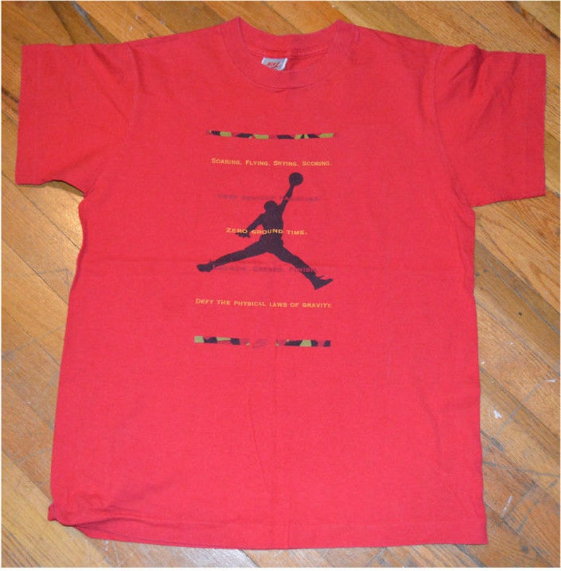 419965b746e77 1990's Michael JORDAN /NIKE Air /Chicago Bulls vintage original NBA  basketball t-shirt (S/M) Small 80's 90's mens tee tshirt Fila Adidas