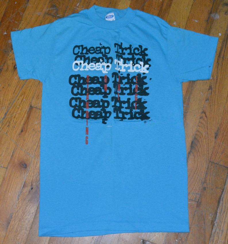 1985 CHEAP TRICK vintage t-shirt concert tour rare original rock band tee  tshirt (S/M) Small/Medium 70s 1970s 80s 1980s Music Gift
