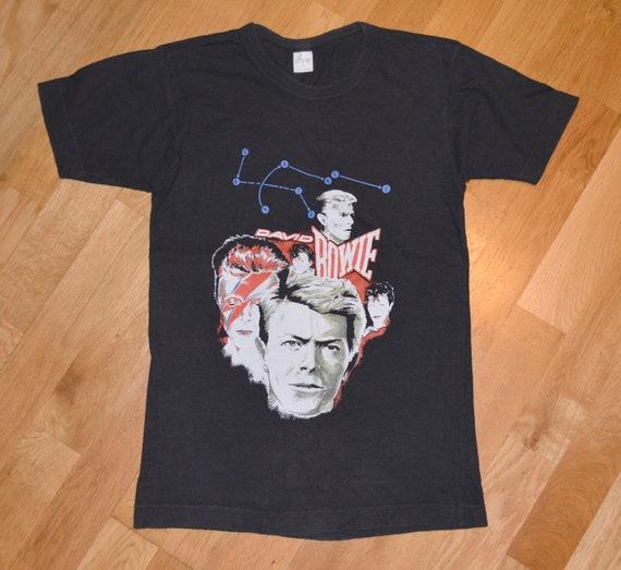 Premium Cotton Rock Tee David Bowie Original Art T-Shirt