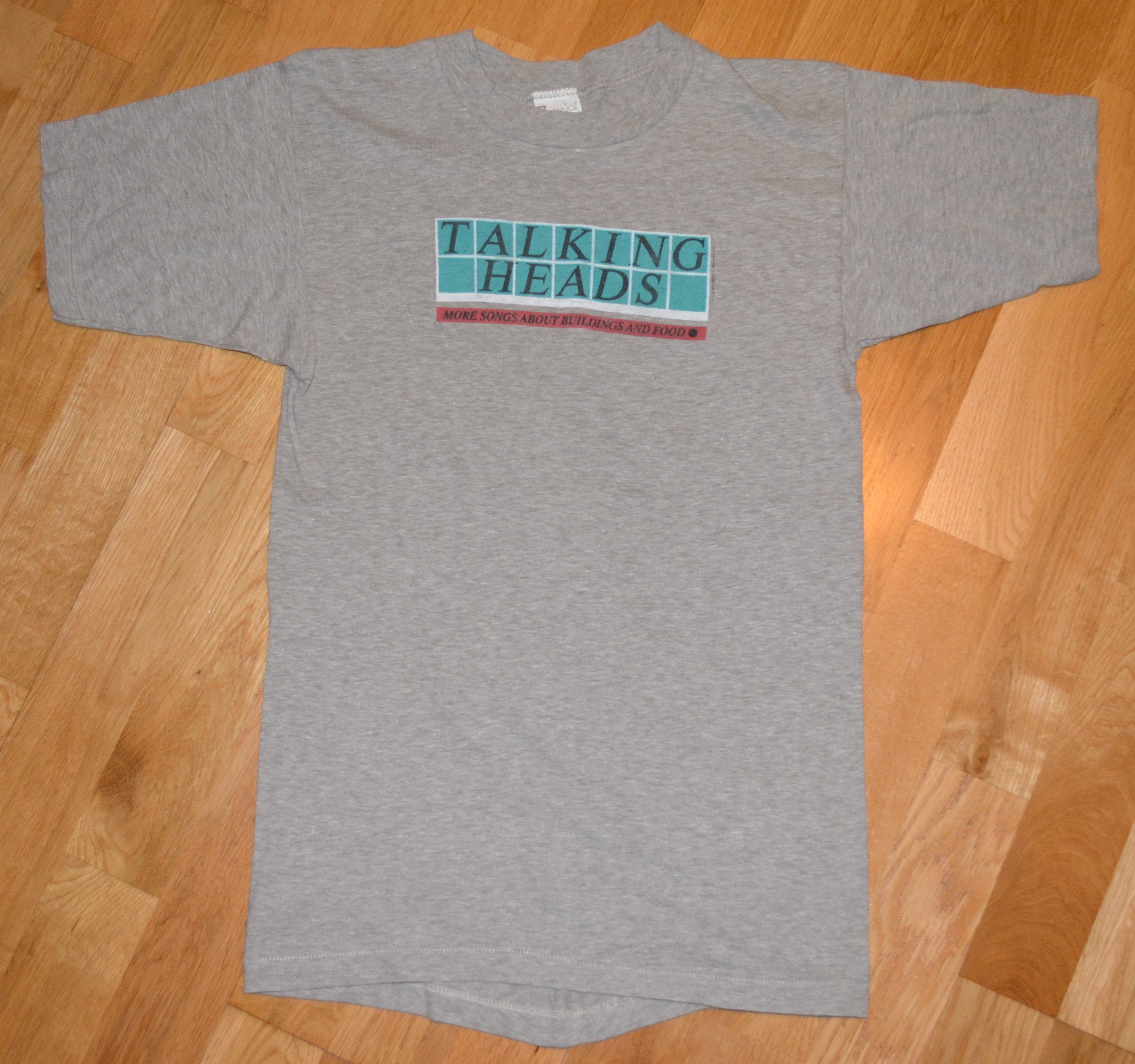 1970s Mens Shirt Styles – Vintage 70s Shirts for Guys 1978 Talking Heads Vintage Rare 1970s Nyc Punk-Rock Concert Tour Original Gray Tee T-Shirt  S Small Mens Unisex Tshirt Gift 70s The $25.00 AT vintagedancer.com