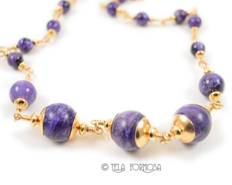 Handmade Massive Necklace Unusual Beaded Jewelry Lilac Beautiful Necklace