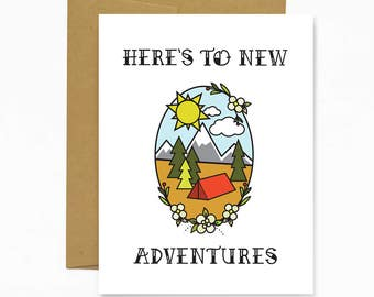 Here's To New Adventures - Greeting Card