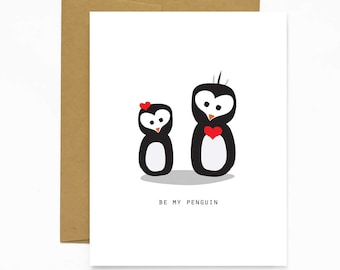 Be My Penguin (Valentine's Day Card)