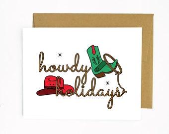 Howdy Holidays (holiday greeting card)