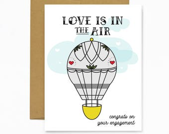 Love Is In The Air (Engagement Card)