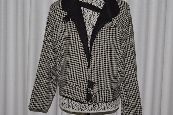Vintage Wool Jacket Bomber 1980s