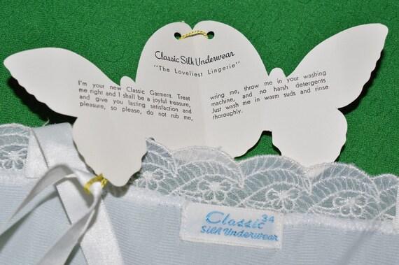 Vintage White Lingerie Underwear Slip 1970s - image 6