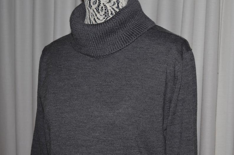 Knitted Wool Dress by LACOSTE Grey Merino Extra Fine Wool