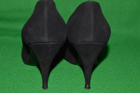 Shoes Black suede ANDREW GELLER 1950s - image 4