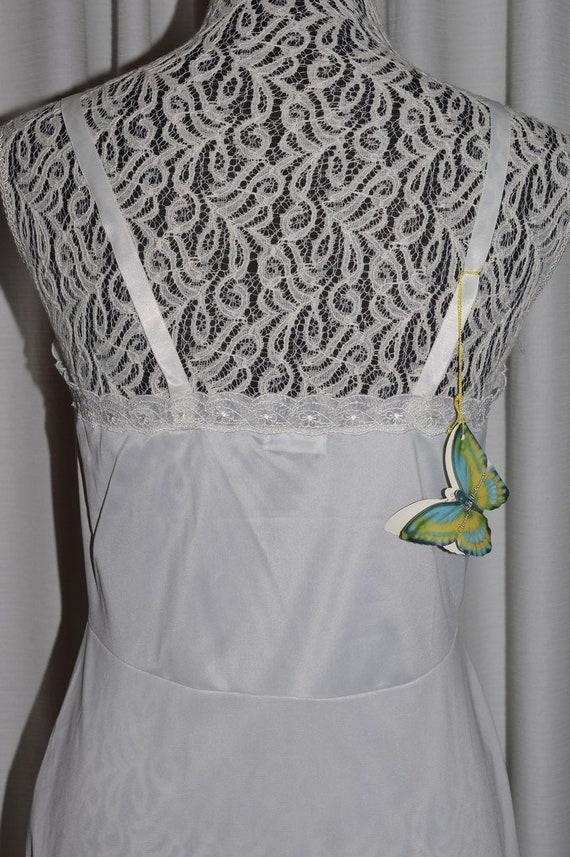 Vintage White Lingerie Underwear Slip 1970s - image 7
